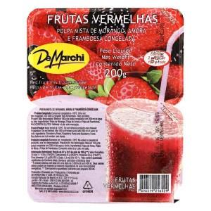 Foto da polpa de frutas vermelhas DeMarchi